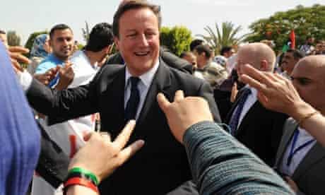 David Cameron in Tripoli