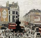 LS Lowry's painting of Piccadilly Circus