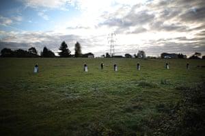 Dale Farm: police at Bury Farm
