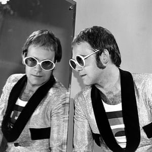 Harry Goodwin pop photos: Elton John at BBC Television Centre