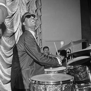 Harry Goodwin pop photos: Little Stevie Wonder on the drums