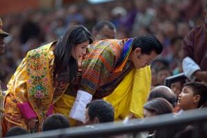 From the agencies: King Jigme Khesar Namgyel Wangchuck, Queen Ashi Jetsun Pema Wangchuck