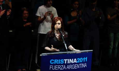Cristina Kirchner, Argentinian presidential candidate