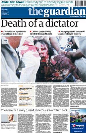 Gaddafi dead: The Guardian, UK