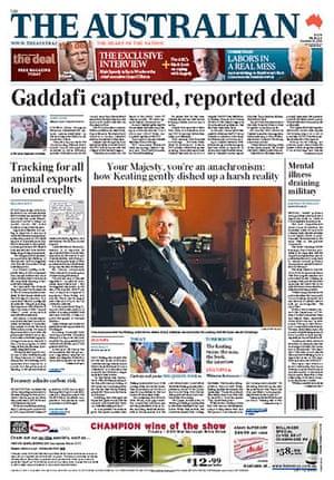 Gaddafi dead: The Australian