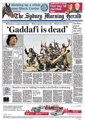 Gaddafi dead: Sydney Morning Herald