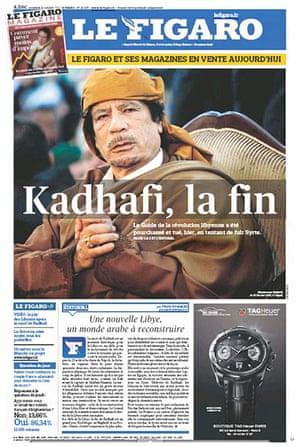 Gaddafi dead: Le Figaro, France