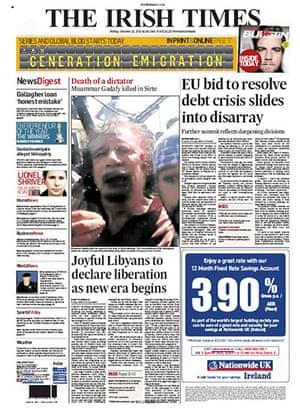 Gaddafi dead: The Irish Times