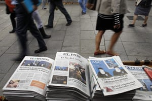 ETA: Spanish newspapers carry front page stories of ETA ceacefire announcement