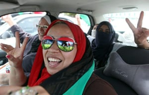 Libya celebrates: Libyan women celebrate the death of Muammar Gaddafi in Tripoli