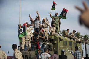 Libya celebrates: Libyan people celebrate the death of Muammar Gaddafi