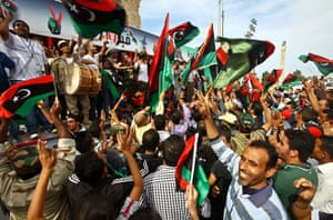 Libya celebrates: Libyan people celebrate the death of Muammar Gaddafi, Tripoli
