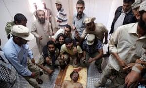 Gaddafi's body
