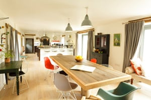 Christmas cottages: Tregullund kitchen