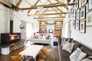 Christmas cottages: Tregullund living room