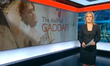 Death of Gaddafi: the BBC Ten O'Clock News on Thursday