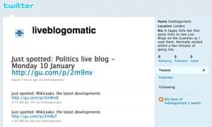 Liveblogomatic Twitter account