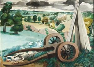 Edward Burra: Landscape near Rye