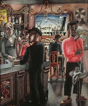 Edward Burra: Dockside Cafe, Marseilles (1929)