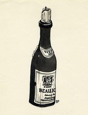 Sylvia Plath sketches: Beaujolais