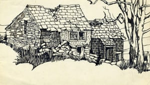 Sylvia Plath sketches: Wuthering Heights