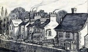 Sylvia Plath sketches: Cambridge