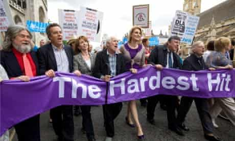 Hardest Hit protest by disabled people