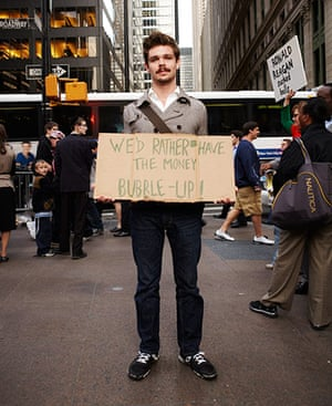 Occupy protests: David Clift, Wall St