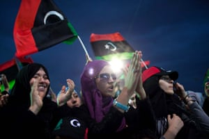 Libya after Gaddafi: Libyans participate in a mass celebration in Freedom square in Misrata