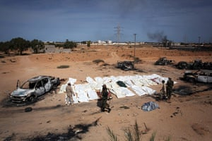 Libya after Gaddafi: Bodies of Gaddafi loyalists killed in Sirte