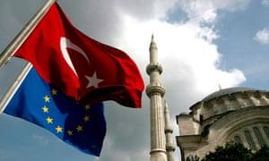 TURKEY flag EU flag