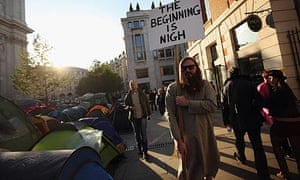 Occupy protesters outside St Paul's Cathedral