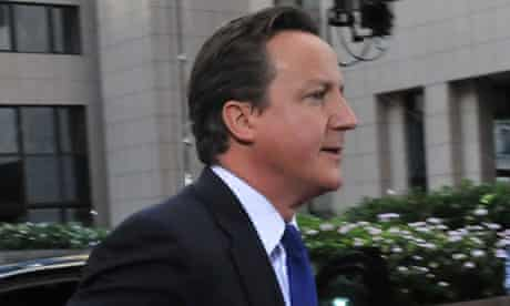 David Cameron arrives at the EU headquarters in Brussels