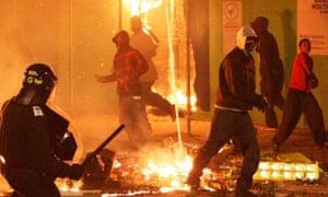 Riots in Tottenham, north London