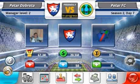 Top Eleven game for Android