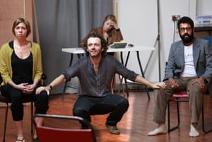 Hamlet at the Young Vic: Eileen Walsh, Michael Sheen and Adeel Akhtar