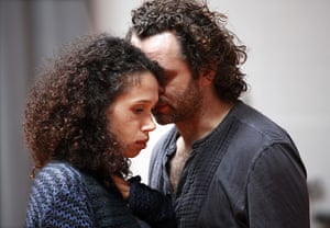 Hamlet at the Young Vic: Vinette Robinson and Michael Sheen
