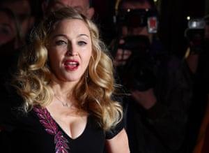 W.E. Madonna film premier: The BFI London Film Festival: W.E. - Premiere - Outside Arrivals
