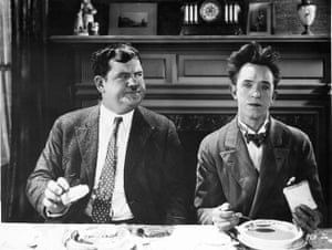 Moustaches: Laurel and Hardy in You're Darn Tootin