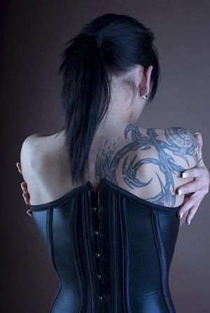 Goths: A goth with a tattoo