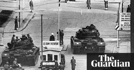 berlin crisis the standoff at checkpoint charlie world news the guardian. Black Bedroom Furniture Sets. Home Design Ideas