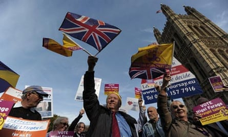 Ukip supporters Westminster