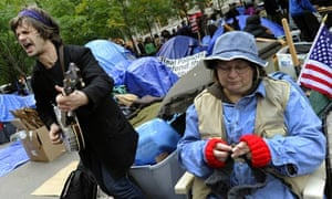 Occupy Wall Street protesters in Zuccotti Park, New York.