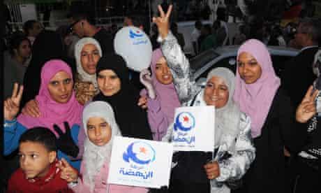 Ennahda supporters in Tunisia