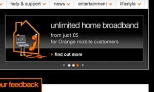 Orange home broadband
