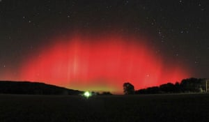 northern lights: The northern lights, or aurora borealis, in Ozark, Arkansas, US