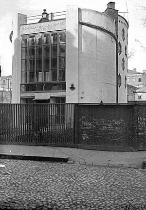 Soviet Art & Architecture: Melnikov House designed by Konstantin Melnikov at the Royal Academy