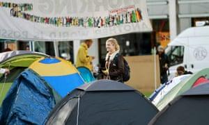 Occupy London camp in Finsbury Square