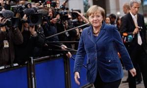 Angela Merkel eu summit