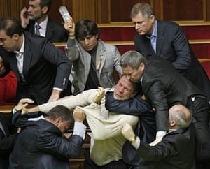 Political fights: political fisticuffs